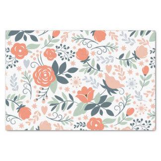 Estampado de flores hermoso femenino papel de seda pequeño