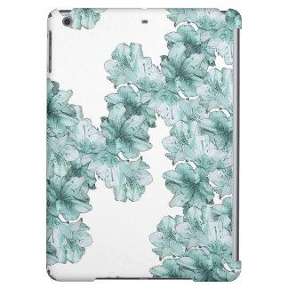 Estampado de flores ilustrado verde menta de la