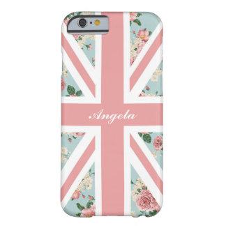 Estampado de flores inglés de Union Jack de los Funda Barely There iPhone 6