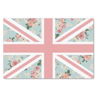 Estampado de flores inglés de Union Jack de los Papel De Seda Pequeño