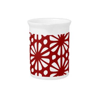 Estampado de flores jarras de beber