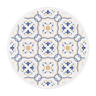 Estampado de flores láminas de glaseado redondas