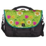 Estampado de flores lindo bolsas de portátil