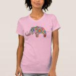 ¡Estampado de flores lindo del elefante - personal Camisetas