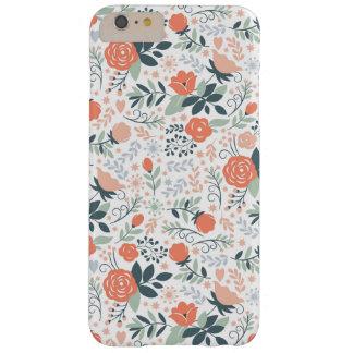 Estampado de flores lindo femenino funda de iPhone 6 plus barely there
