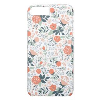 Estampado de flores lindo femenino funda iPhone 7 plus
