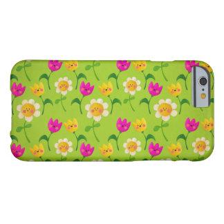 Estampado de flores lindo funda de iPhone 6 barely there