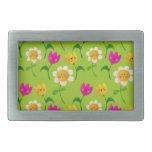 Estampado de flores lindo hebillas de cinturon rectangulares