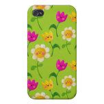 Estampado de flores lindo iPhone 4 cárcasa