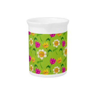 Estampado de flores lindo jarra de beber