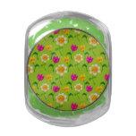 Estampado de flores lindo jarras de cristal jelly bely