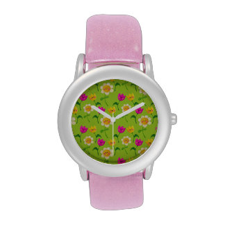 Estampado de flores lindo relojes