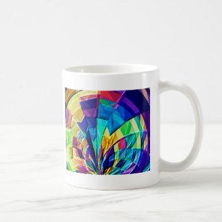 Estampado de flores mágico V1 del arco iris Taza De Café