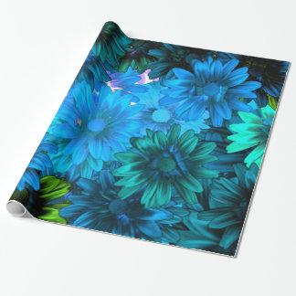 Estampado de flores moderno azul claro