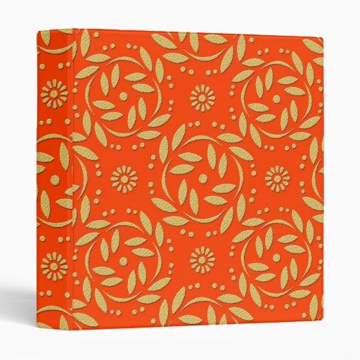 Estampado de flores moderno del naranja y del oro