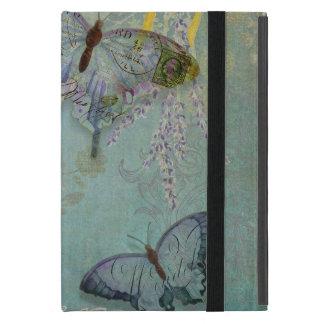 Estampado de flores moderno del papel pintado de l iPad mini funda