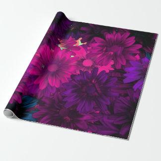 Estampado de flores moderno magenta púrpura