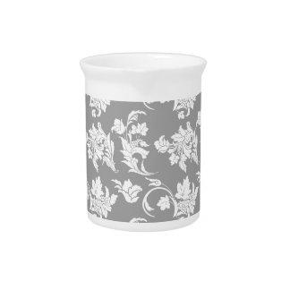 Estampado de flores monocromático jarra de beber