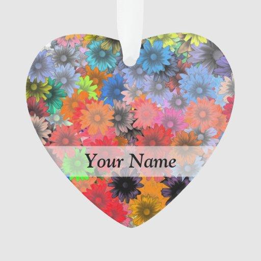 Estampado de flores multicolor