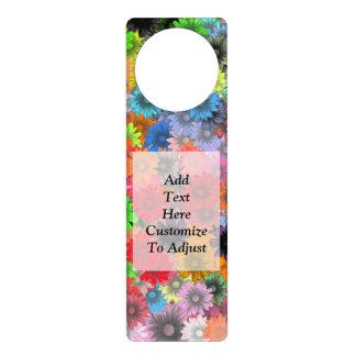 Estampado de flores multicolor colgador para puerta
