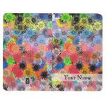 Estampado de flores multicolor cuaderno
