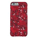 Estampado de flores oriental #7 del vintage funda para iPhone 6 barely there