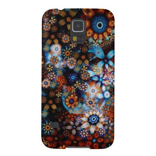 Estampado de flores oriental multicolor del vintag funda de galaxy s5