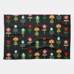 Estampado de flores popular retro toalla de cocina