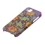 Estampado de flores psicodélico del papel pintado  iPhone 5 carcasas