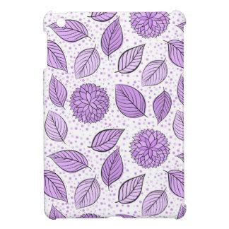 Estampado de flores púrpura bonito