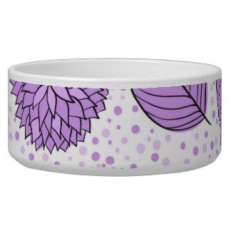 Estampado de flores púrpura bonito tazón para perro
