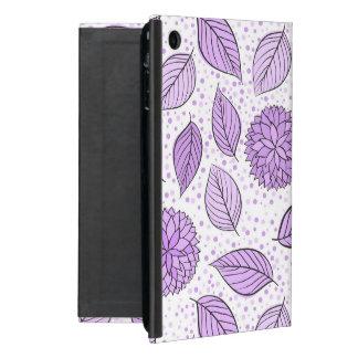 Estampado de flores púrpura bonito iPad mini carcasas