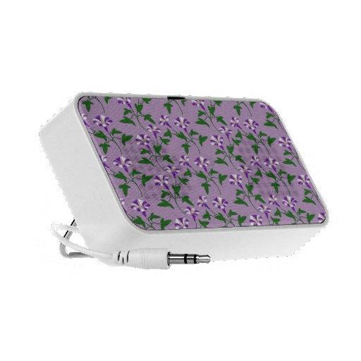 Estampado de flores púrpura de las correhuelas notebook altavoz