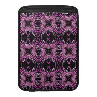 Estampado de flores púrpura fundas MacBook