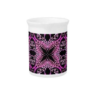 Estampado de flores púrpura jarron