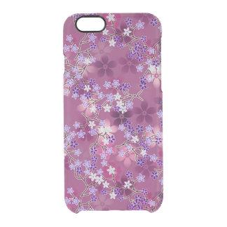 Estampado de flores púrpura oriental del vintage funda clearly™ deflector para iPhone 6 de uncommon