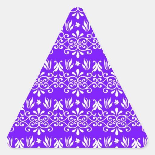 Estampado de flores púrpura real calcomanías de trianguladas