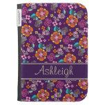Estampado de flores púrpura retro
