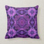 Estampado de flores púrpura reversible cojines