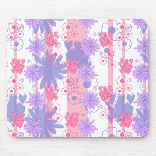 Estampado de flores púrpura rosado precioso mouse pad