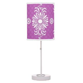 Estampado de flores púrpura y blanco lindo