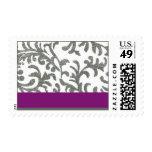 Estampado de flores púrpura y gris