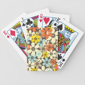 Estampado de flores retro baraja cartas de poker