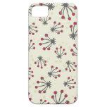 estampado de flores retro beige gris rojo iPhone 5 Case-Mate coberturas