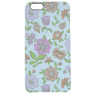 Estampado de flores retro colorido funda clearly™ deflector para iPhone 6 plus de unc