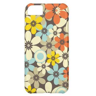 Estampado de flores retro funda para iPhone 5C