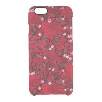 Estampado de flores rojo oriental del vintage funda clearly™ deflector para iPhone 6 de uncommon