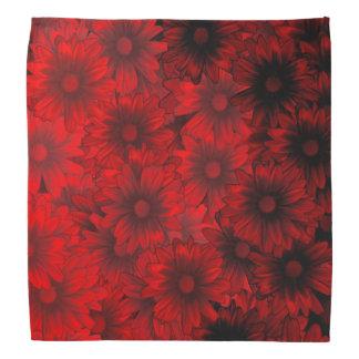 Estampado de flores rojo oscuro bandanas