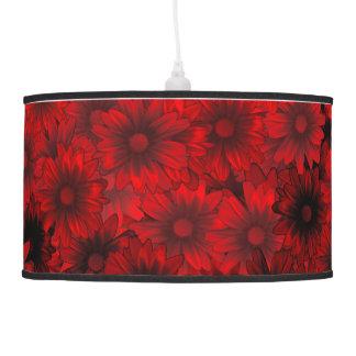 Estampado de flores rojo oscuro