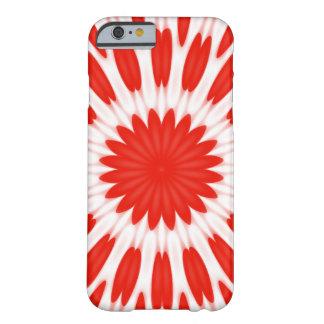 Estampado de flores rojo y blanco funda de iPhone 6 barely there